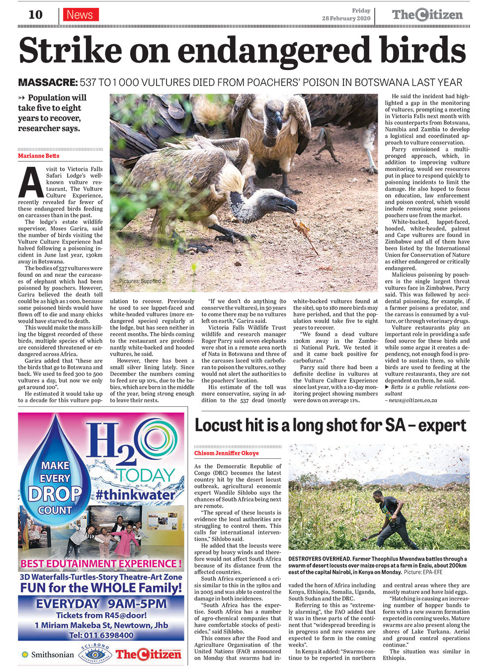 Vic Falls Vultures Poisoned